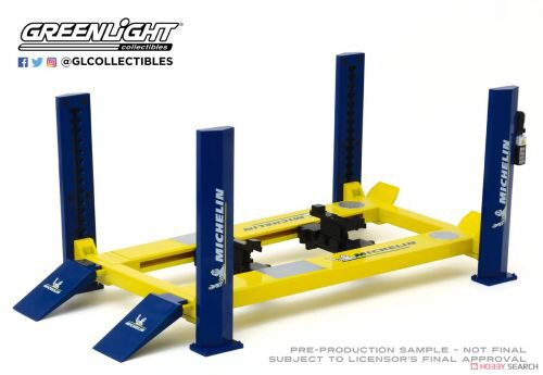 Greenlight 13554 Four-Post Lift Michelin Tires