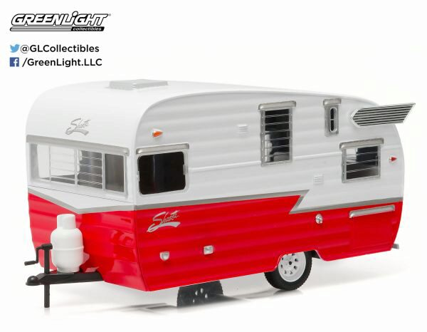 Greenlight 18225 Shasta 15 Airflyte, white and red