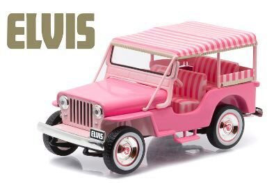 Greenlight 86472 1960 Jeep Surrey CJ3B Pink