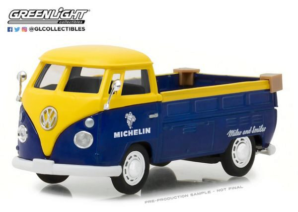 Greenlight 87010E Volkswagen Type2 (T1) Pickup Michelin Tires