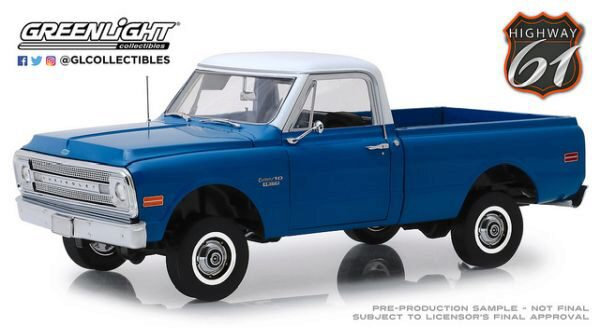 Greenlight HWY18011 1970 Chevrolet C-10 with Lift Kit  Highway 61