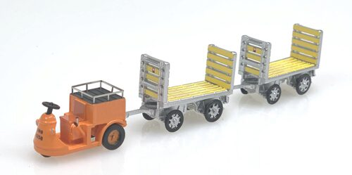ACE 008703 SBB NEFAG Schlepper 3-Rad mit 2 Trolleys SBB  orange