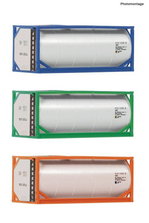 Fleischmann 910120 3-tlg. Set: 20'-Tankcontainer