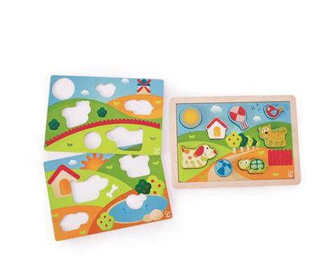 Hape E1601A Pepe & Friends Sonnental Puzzle
