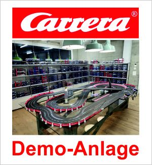 im Laden grosse Carrera Digital 132 Vorführanlage - komplettes Carrea Digital Sortiment am Lager