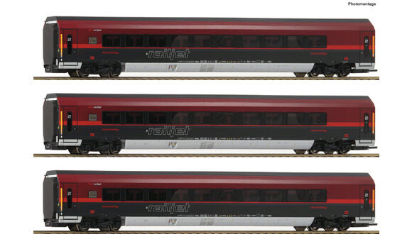 Roco 64191 3-tlg Set Railjet DC