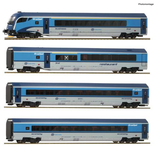 Roco 74142 CD 4er Set Railjet CD DC