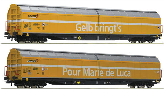 Roco 76087 SBB Schiebewagen Post  2-er Set