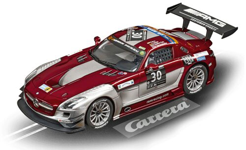 Carrera 23864 D124 Mercedes-Benz SLS AMG GT3 Ram Racing, No.30, Dubai 2015