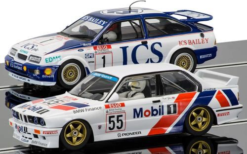 Scalextric C3693A Touring Car Legends- Ford Sierra RS500 vs BMW E30