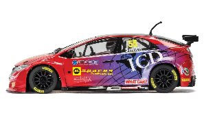 Scalextric C3860 BTCC Honda Civic Type R, Jeff Smith mit Licht