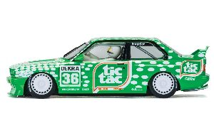Scalextric C3865 BMW M3 E30, Sport Evolution Team Tic Tac mit Licht