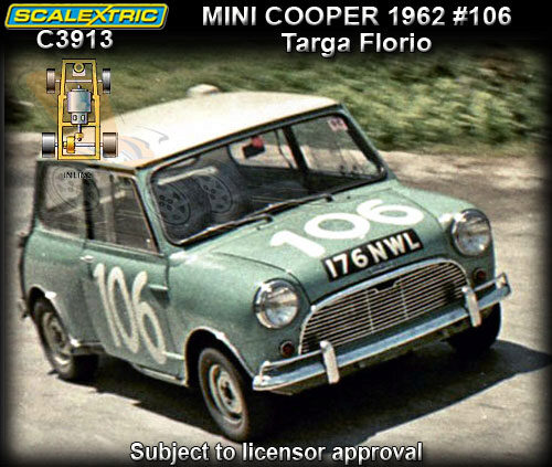 Scalextric C3913 Downton Mini Cooper 1962 Targa Florio