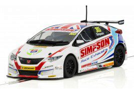 Scalextric C3915 Honda Civic Type R NGTC Í BTCC 2017 Matt Simpson