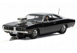 Scalextric C3936 Dodge Charger (gloss black) with blower