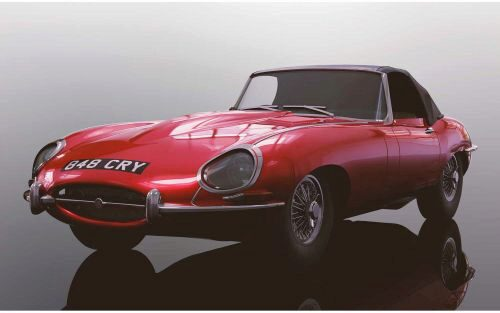 Scalextric C4032 Jaguar E-Type - Red 848CRY