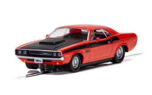 Scalextric C4065 Dodge Challenger T/A - Red and Black