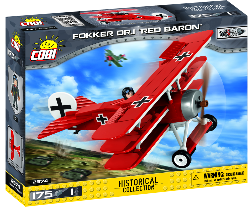 Cobi 2974 175 PCS SMALL ARMY /2974/ FOKKER DR.I RED BARON