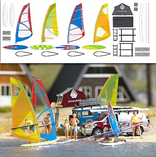 Busch 1156 Windsurfer-Set             H0