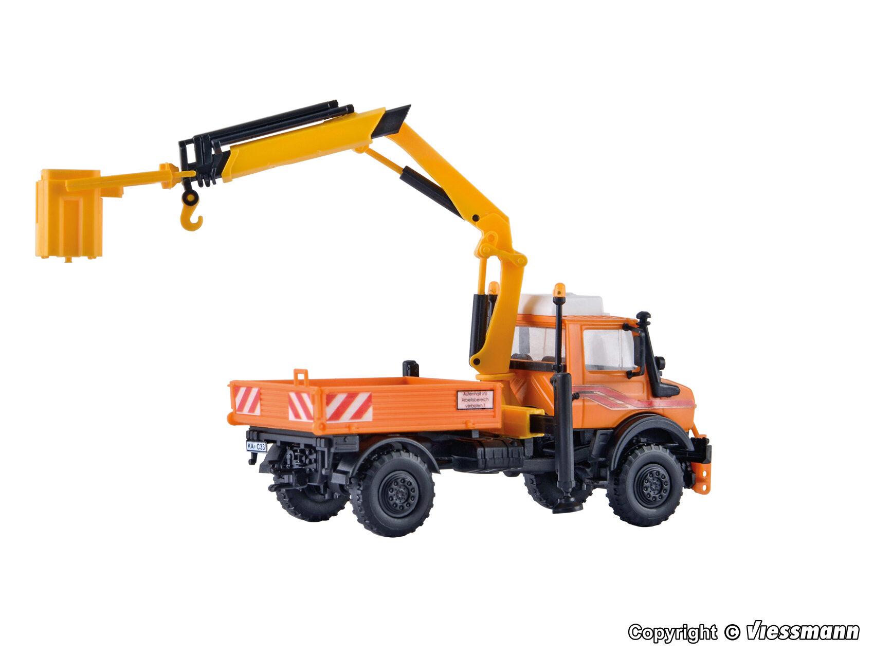 Kibri H0 15005 UNIMOG mit Arbeitskran und Korb