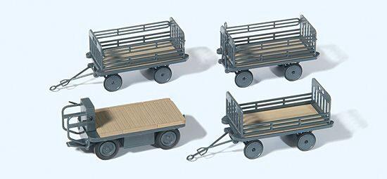 Preiser 17103 H0 8 Stück Bausatz Neu Handwagen