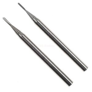 Proxxon 28321 Hartmetall-Fräsbohrer 0,6 /& 0,8 mm