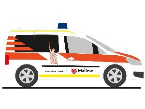 Rietze 52912 VW Caddy ´11 Malteser Lippe