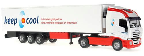 Rietze 60855 Iveco Stralis 07 Kofferauflieger Keep Cool (CH)