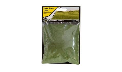 Woodland FS614 Static Grass Medium Green 2mm