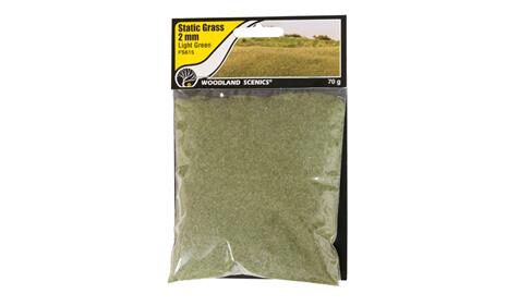 Woodland FS615 Static Grass Light Green 2mm